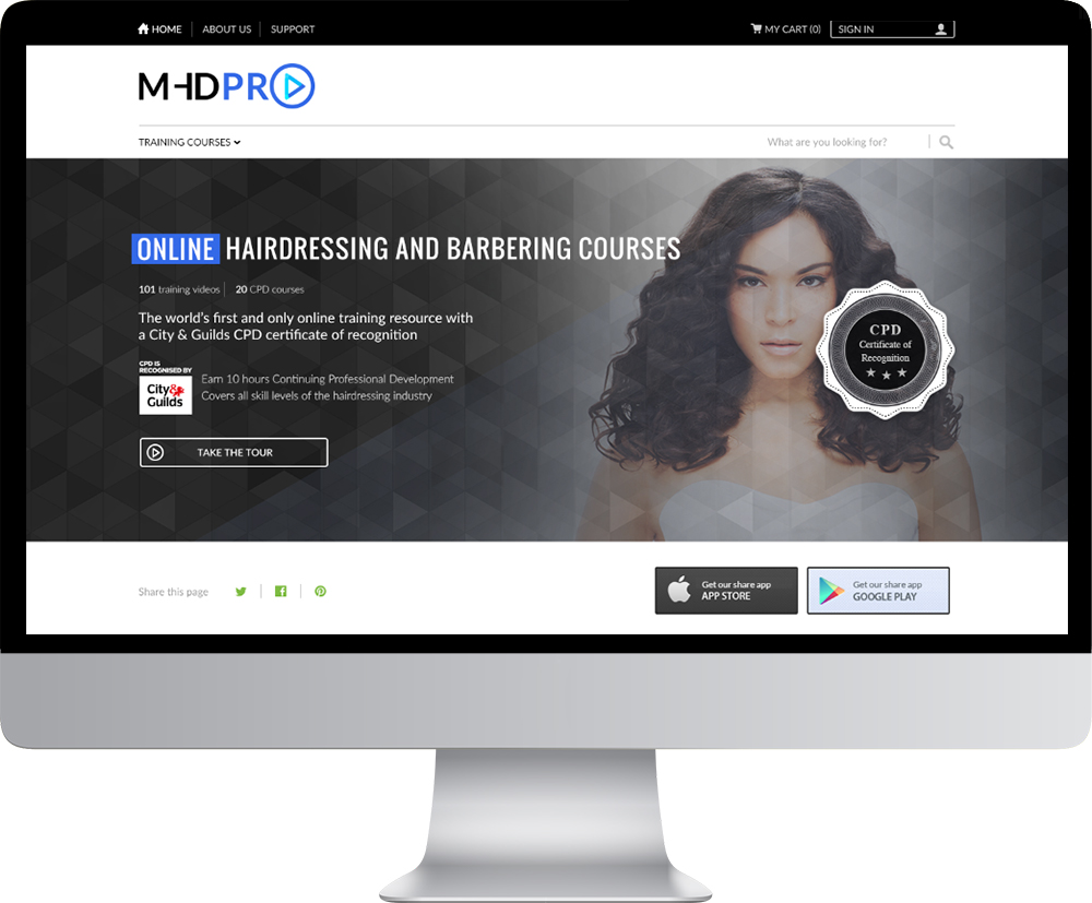 about us mhd pro mhdpro features online hairdressing courses over a range of disciplines and skill levels each course contains five or six videos for hair professionals to